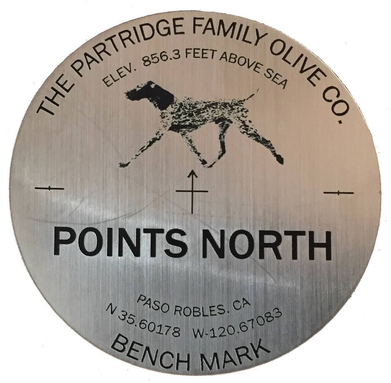 Points North label